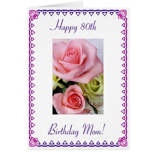 Le quatre-vingtième anniversaire de la maman carte de vœux