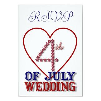 Le quatrième de juillet tient le premier rôle la carton d'invitation 8,89 cm x 12,70 cm