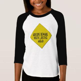 Le raglan de la fille de justice poétique t-shirt
