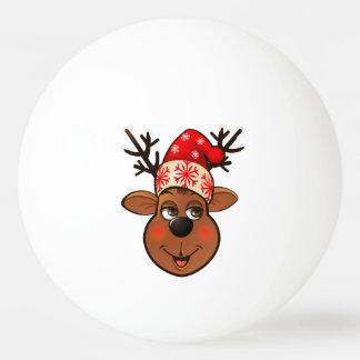 Le renne du père noël balle de ping pong