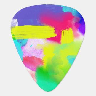 Le résumé barre le motif artistique au néon onglet de guitare