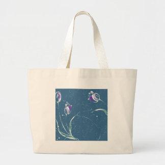 Le résumé fleurit la tulipe bleue sacs