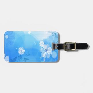 Le résumé fleurit le jardin bleu étiquettes à bagages