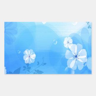 Le résumé fleurit le jardin bleu stickers rectangulaires