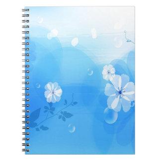 Le résumé fleurit le jardin bleu carnet à spirale