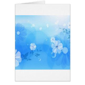Le résumé fleurit le jardin bleu cartes