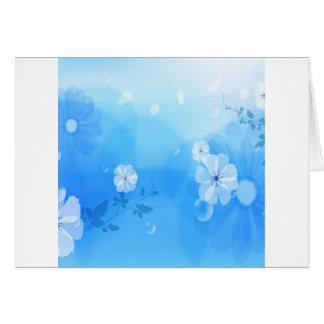 Le résumé fleurit le jardin bleu cartes de vœux