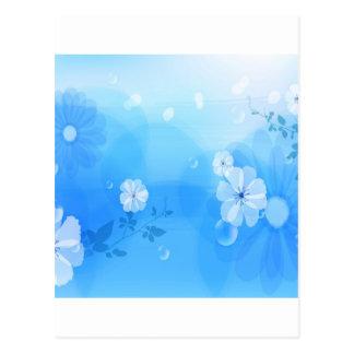 Le résumé fleurit le jardin bleu cartes postales