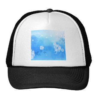 Le résumé fleurit le jardin bleu casquette de camionneur