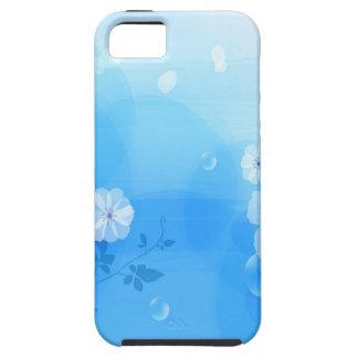 Le résumé fleurit le jardin bleu étui iPhone 5