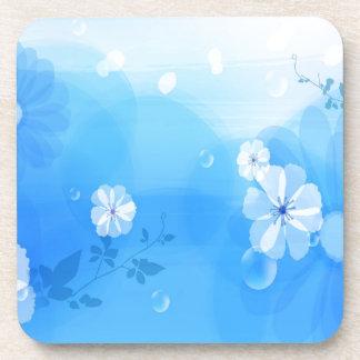 Le résumé fleurit le jardin bleu dessous-de-verre