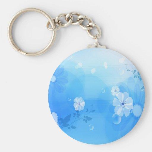 Le résumé fleurit le jardin bleu porte-clé