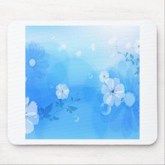 Le résumé fleurit le jardin bleu tapis de souris