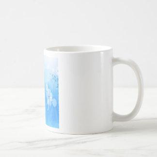 Le résumé fleurit le jardin bleu mugs à café