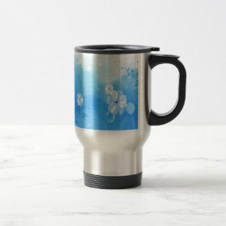 Le résumé fleurit le jardin bleu tasses à café