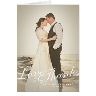 Le rétro amour vintage de filtre de photo remercie carte de correspondance
