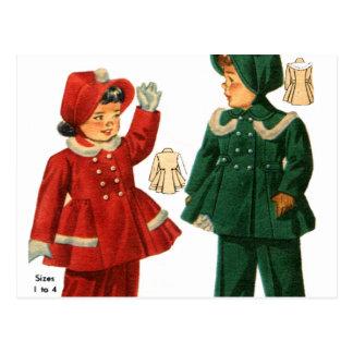 Le rétro catalogue vintage du kitsch 40s badine de carte postale