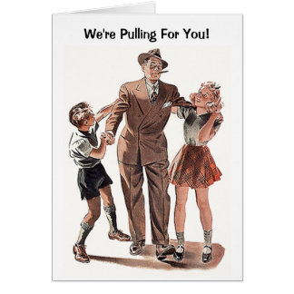 Le rétro grand-papa vintage de papa de famille carte de correspondance