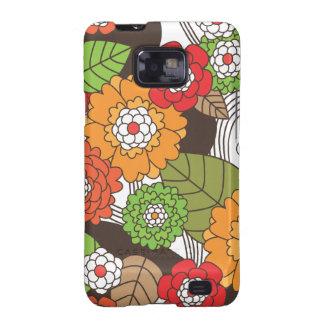 Le rétro motif floral Samsung d'amusement enfermen Coque Samsung Galaxy S2