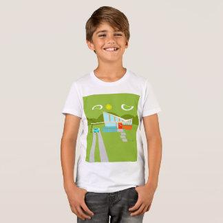 Le rétro T-shirt des enfants de Chambre de Palm