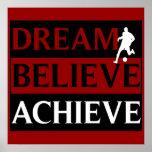 Le rêve croient réalisent l'affiche du football