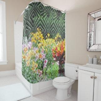 Le rideau en douche fait sur commande de jardin