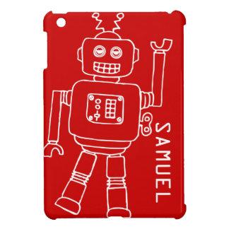 Le robot d'amusement badine l'ipad blanc rouge app