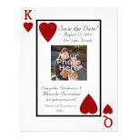 Le roi de carte de jeu/photo de la Reine font gagn Cartons D'invitation Personnalisés
