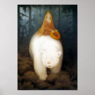 Le Roi Valemon d ours blanc Affiche