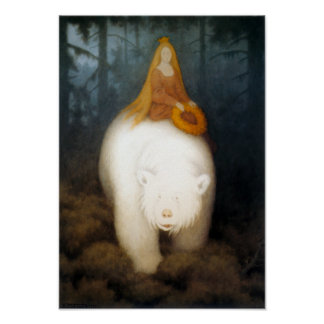 Le Roi Valemon d'ours blanc Affiche