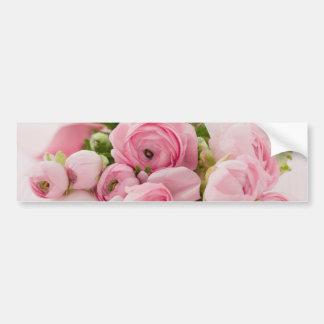 Le rose fleurit le bouquet, épouser d'amour autocollant de voiture