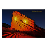 Le rouge bascule l'amphithéâtre posters