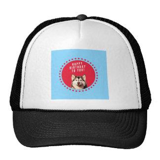 Le rouge bleu mignon de joyeux anniversaire de casquettes