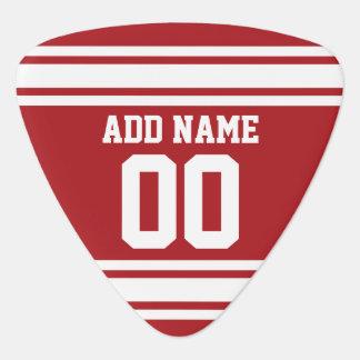 Le rouge folâtre le Jersey avec votre nom et Onglet De Guitare