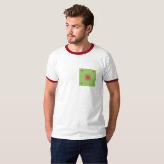 Le rouge purple&green la conception graphique t-shirt