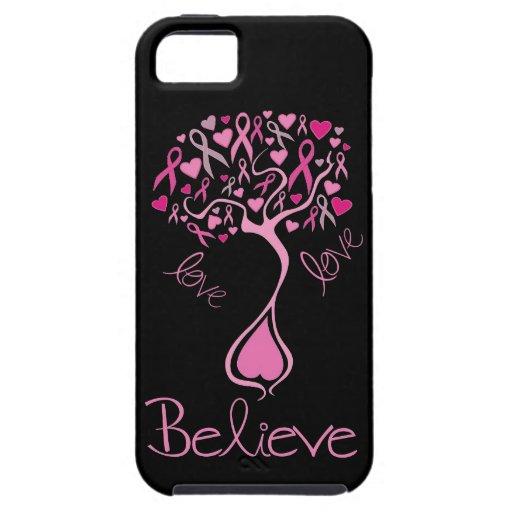 Le ruban rose croient et aiment le cas de l'iphone iPhone 5 case