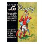 Le Rugby - poster vintage
