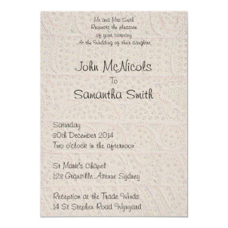 Le sable de voyage carton d'invitation  12,7 cm x 17,78 cm