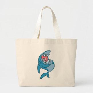 Le sac riant de plage de bande dessinée de requin