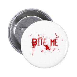 "Le sang vrai ""me mordent "" macaron rond 5 cm"