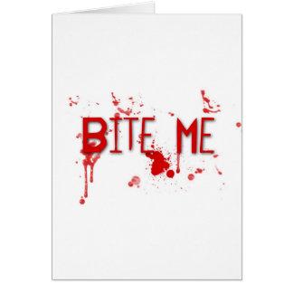 """Le sang vrai """"me mordent """" carte de vœux"""