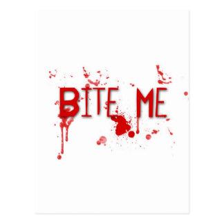 "Le sang vrai ""me mordent "" cartes postales"