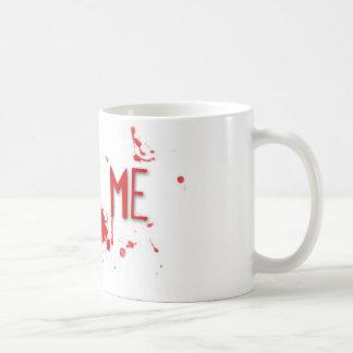"""Le sang vrai """"me mordent """" mug blanc"""