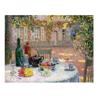 Le Sidaner: Table under Leaves in the Sun Postcard