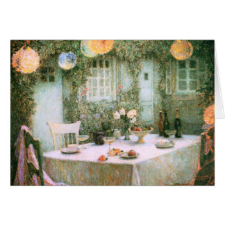Le Sidaner: Table with Lanterns Card