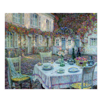 Le Sidaner: Table with Roses at Gerberoy Poster