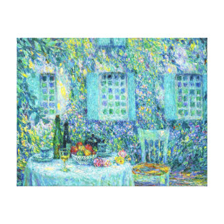 Le Sidaner: The Table and the Sun on the Leaves Canvas Print