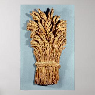 Le signe de Baker avec des oreilles de blé et des  Poster