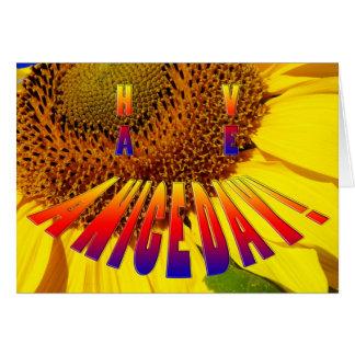 le smiley de tournesol ont une carte de beau jour