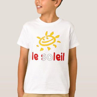 Le Soleil The Sun in Canadian Summer Vacation Tee Shirts